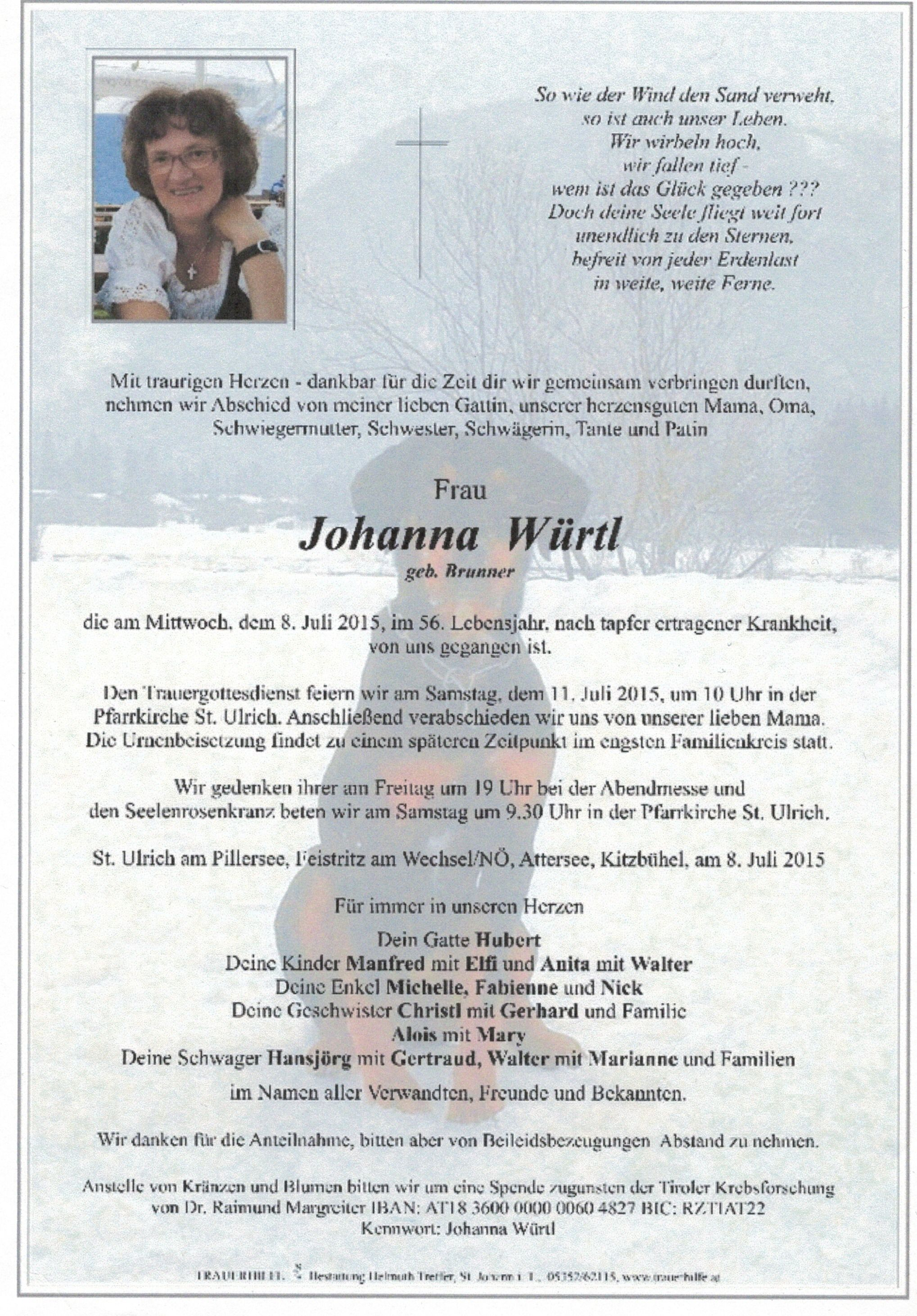 Nachruf 2 Johanna